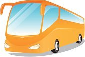 Bus,Coach Bus,Vector,Travel,Orange Color,Modern,Paintings,Land Vehicle,Business Travel,People Traveling,Illustrations And Vector Art,Transportation,Isolated Objects,illustrates,Transportation,Painted Image,Comfortable,Color Image,Mode of Transport