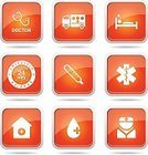 Digitally Generated Image,Vector,Sign,Ilustration,App Icon,Ambulance,First Aid Kit,Hospital,Computer Graphic,Shape,Stethoscope,Health Emergency,Nurse,Collection,Icon Set,web icon,Internet,Care,24 Hrs,Design,Glossy Button,Interface Icons,Isolated,Phone Icon,Medical Icon,Healthcare And Medicine,Orange Color,Set,Temperature,Blood,vector icon,Icon Design,Computer Icon,Symbol,Injecting
