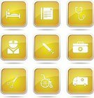 Vector,Glossy Button,Interface Icons,Digitally Generated Image,Ilustration,Hospital,App Icon,Yellow,vector icon,Care,Nurse,Icon Design,Symbol,Yellow Button,Computer Icon,Wheelchair,First Aid Kit,Isolated,Design,Sign,Phone Icon,Healthcare And Medicine,Medical Icon,Scissors,Computer Graphic,Shape,Set,Ambulance,Stethoscope,Collection,Icon Set,web icon,Internet,Injecting