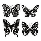 Vector,Symbol,Computer Icon,Insect,Monarch Butterfly,Stencil,Wildlife,flying insect,Flying,Black And White,Swallowtail Butterfly,Icon Set,Tropical Climate,Tattoo,Group Of Animals,Shape,Africa,Nature,Clip Art,Beauty In Nature,Tropical Rainforest,Spread Wings
