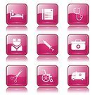 App Icon,Ilustration,Digitally Generated Image,Hospital,Wheelchair,Ambulance,First Aid Kit,Vector,Sign,Icon Set,Collection,Nurse,Internet,web icon,Computer Graphic,Shape,Care,Stethoscope,Isolated,Design,Glossy Button,Phone Icon,Healthcare And Medicine,Medical Icon,Scissors,Interface Icons,vector icon,Set,Icon Design,Symbol,Pink Color,Computer Icon,Injecting