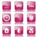 Digitally Generated Image,Vector,Sign,Ilustration,App Icon,Ambulance,First Aid Kit,Hospital,Computer Graphic,Shape,Stethoscope,Health Emergency,Nurse,Collection,Icon Set,web icon,Internet,Care,24 Hrs,Design,Glossy Button,Interface Icons,Isolated,Phone Icon,Medical Icon,Healthcare And Medicine,Pink Color,Set,Temperature,Blood,vector icon,Icon Design,Computer Icon,Symbol,Injecting