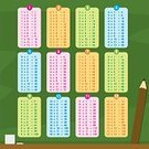 Student,Pencil,Table,Teaching,Vector,Teacher,Mathematics,Material,Multi Colored,Blackboard,Education,Ilustration,Learning,Backgrounds