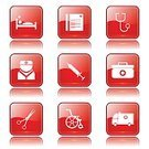 Vector,Glossy Button,Interface Icons,Digitally Generated Image,Ilustration,Hospital,App Icon,Red,vector icon,Care,Nurse,Icon Design,Symbol,Red Buttons,Computer Icon,Wheelchair,First Aid Kit,Isolated,Design,Sign,Phone Icon,Healthcare And Medicine,Medical Icon,Scissors,Computer Graphic,Shape,Set,Ambulance,Stethoscope,Collection,Icon Set,web icon,Internet,Injecting