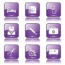 App Icon,Ilustration,Digitally Generated Image,Hospital,Wheelchair,Ambulance,First Aid Kit,Vector,Sign,Icon Set,Collection,Nurse,Internet,web icon,Computer Graphic,Shape,Care,Stethoscope,Isolated,Design,Glossy Button,Phone Icon,Healthcare And Medicine,Medical Icon,Scissors,Interface Icons,vector icon,Set,Icon Design,Symbol,Purple,Computer Icon,Injecting