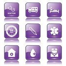 Digitally Generated Image,Vector,Sign,Ilustration,App Icon,Ambulance,First Aid Kit,Hospital,Computer Graphic,Shape,Stethoscope,Health Emergency,Nurse,Collection,Icon Set,web icon,Internet,Care,24 Hrs,Design,Glossy Button,Interface Icons,Isolated,Phone Icon,Medical Icon,Healthcare And Medicine,Purple,Set,Temperature,Blood,vector icon,Icon Design,Computer Icon,Symbol,Injecting
