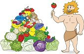 Neanderthal,Meat,Isolated,Cartoon,Vector,Ilustration,Stone Age,Men,Characters,Prehistoric Era,Nut - Food,Healthy Lifestyle,Eggs,Cave Dweller,Cave,Pyramid,Healthcare And Medicine,Lifestyles,Berry Fruit,Fruit,Food Pyramid,Eating,Paleolithic Diet,Pyramid Shape,Food,Caveman,Dieting,Vegetable