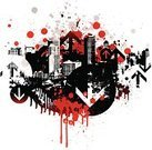 Splattered,Paint,Graffiti,Grunge,City,Red,Blood,City Life,Drop,Urban Scene,Backgrounds,Street,Crime,Built Structure,Arrow Symbol,Black Color,Motion,Gray,Violence,Computer Graphic,Business,Vector,Town,Youth Culture,Digitally Generated Image,Death,Direction,Building Exterior,Ilustration,Freshness,Skyscraper,Colors,Color Image,Shock,Horror,Modern,innercity,No People
