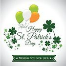 St. Patrick's Day,Happiness,Saint,Day,Nature,Springtime,Treasure,Design,Ilustration,Clip Art,Digitally Generated Image,Luck,Greeting Card,Religion,Celebration,Cultures,March,Green Color,Ornate,Holiday,Leaf,Irish Culture,Vector,Clover,Republic of Ireland