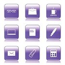 Digitally Generated Image,Vector,Sign,Ilustration,App Icon,Laptop,Coffee - Drink,Ring Binder,Computer Graphic,Shape,Paper Pin,E-Mail,Notebook,Collection,Icon Set,web icon,Internet,Pen,Calculator,Design,Glossy Button,Interface Icons,Isolated,Phone Icon,File,Eyeglasses,Purple,Set,Bizarre,Note Pad,vector icon,Icon Design,Computer Icon,Symbol,Tea - Hot Drink