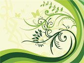 Formal Garden,Indigenous Culture,Design,Butterfly - Insect,Silhouette,Green Color,Flower,Single Flower,Growth,Swirl,Backgrounds,Leaf,Grass,Animal,Nature,Plant,Blade of Grass,Vector,Curve,Springtime,Circle,Wallpaper Pattern,Design Element,Elegance,Ornate,Paint,Scroll Shape,Ilustration,Spraying,Beauty In Nature,Vector Florals,Spring,Illustrations And Vector Art,Nature,Plants