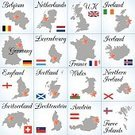 Switzerland,Austria,Germany,Map,Cartography,Luxembourg - Benelux,Flag,Holland,Netherlands,Ilustration,continent,Holiday,Collection,Scotland,UK,Belgium,German Culture,Western Europe,Northern Ireland,Travel,Republic of Ireland,Illustrations And Vector Art,Dutch Culture,International Border,Liechtenstein,Icon Set,French Culture,France,Text,Country - Geographic Area,Benelux,England,Vacations,Wales,Silhouette,Symbol,Computer Icon,Europe,Tourism,Iceland,English Culture,No People,European Union Currency,European Union,Travel Destinations