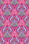 Pink Color,Seamless,Baroque Style,Brocade,Pattern,Geometric Shape,Retro Revival,Floral Pattern,Textile,1960s Style,Backgrounds,1950s Style,Squiggle,Decoration,Colored Background,Wallpaper Pattern,Satin,Textured Effect,Colors,Vector Backgrounds,Vector Ornaments,Illustrations And Vector Art,Magenta,Ornate,Mirrored Pattern,Wrapping Paper