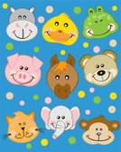 Monkey,Baby,Pig,Frog,Duck,Bear,Hippopotamus,Elephant,Zoo,Young Animal,Domestic Cat,Horse,Cheerful,Collection,Portrait,Set,Wildlife,Characters,Illustrations And Vector Art,Innocence,Animals And Pets