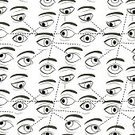 Monochrome,Looking,Facial Expression,Moving Down,Surveillance,People,seamless pattern,right,Collection,Human Eye,Studying,Concepts,Emotion,Moving Up,Anatomy,Side View,Eyebrow,Ilustration,Vector,Symbol,Surrounding,Cute,Backgrounds