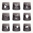 Sign,Computer Graphic,Shape,Design,Isolated,Communication,Telecommunications Equipment,Phone Icon,web icon,Internet,PC,Computer Network,Satellite Dish,Mobile Phone,Protection,Icon Set,Collection,Set,Communications Tower,Network Icon,Interface Icons,Black Color,Glossy Button,Vector,App Icon,Ilustration,Digitally Generated Image,Black Button,Computer Icon,Security,Security Camera,Computer,Shield,vector icon,Symbol,Icon Design,Global Communications