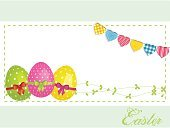 Easter,Bunting,Purple,Yellow,Polka Dot,Vector,Ilustration,Eps10,Green Color,Backgrounds,Celebration,Eggs,Computer Graphic,Ribbon,Bow,Text,Bow,Holiday