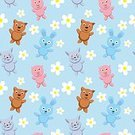 Seamless,Pattern,Teddy Bear,Stuffed,Repetition,Colors,Painting,Happiness,Ilustration,Animal Themes,Animal,Small,Pets,Childhood,Friendship,Art,Play,flovers,Pig,Undomesticated Cat,Domestic Animals,Joy,Baby,Design,Mammal,Characters,Dog,Backgrounds,Toy,Smiling,Brown,Nature,Bear,Cute,Cartoon,Humor,Computer,Vector,Paintings,Wallpaper,Playful,Computer Graphic,Cheerful,Offspring,Young Animal,Blue,Fun,Child,Animals In The Wild,Drawing - Art Product,Elephant,Babies Only