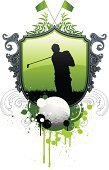Golf,Insignia,Sport,Badge,Silhouette,Grunge,Golf Course,Tree,Symbol,Green Color,Vector,Men,Design,Ilustration,Action,Paint,Spray,Splattered,Computer Graphic,Swinging,Sign,Organized Group,Digitally Generated Image,Colors,Golf Ball,Color Image
