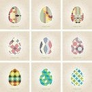 Abstract,Computer Graphic,Gift,earthtone,Greeting,Multi Colored,Symbol,Decor,Season,Decoration,Backgrounds,Pattern,Easter,Vector,Ilustration,Celebration,Cute,April