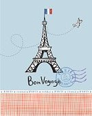 Architecture,Doodle,Love,Blue,Outdoors,Length,Drawing - Activity,Romance,Exploration,History,Vector,Postcard,Tower,Computer Graphic,France,Majestic,Horizontal,Europe