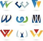 Letter W,Triangle,Collection,Computer Graphic,Capital Letter,Set,Modern,Style,Vector,Design,Turquoise,Orange Color,Two-dimensional Shape,Geometric Shape,Rectangle,Clip Art,Multi Colored,Black Color,Design Element,Blue,Abstract,Shape,Insignia,Symbol,Icon Set,Ilustration,Alphabet,Ideas,Drawing - Art Product,Typescript,Green Color,typographic,Yellow,Futuristic,Red,Curve