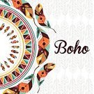 Backgrounds,Boho,Circle,Indian Culture,Multi Colored,Catching,Vector,Dreamlike,Beauty In Nature,Ornate,Nature,Feather,Abstract,Decoration,Computer Graphic,Beauty,Image,Digitally Generated Image,Ethnic,Ilustration,Bird,Traveling Carnival,Design,American Culture,Indigenous Culture