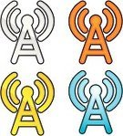 Radio,Broadcasting,Wireless Technology,Communication,Computer Network,Internet,Technology,Vector Icons,Communications Technology,Illustrations And Vector Art