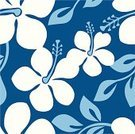 Hawaiian Shirt,Hawaiian Culture,Pattern,Hawaii Islands,Hibiscus,Seamless,Flower,Aloha,Backgrounds,Polynesia,Tropical Climate,Floral Pattern,Blue,Big Island,Vector,Ilustration,Plant,Blossom,Leaf,Vector Florals,Illustrations And Vector Art,Vector Backgrounds