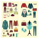 Design Element,Collection,Sunglasses,Bag,Ilustration,Boutique,Group of Objects,Fashion,Elegance,Outline,Women,Coat,Design Professional,Vector,Weather,Backgrounds,Jewelry,Pattern,Personal Accessory,Hat,Season,Looking,Shoe,Clothing