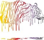 Painted Image,Nature,Vector,Animals In The Wild,Wildlife,Melting,Isolated,Tiger,Animal,Camouflage,Colors,Abstract