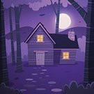 Moon,Vector,Backgrounds,Ilustration,Season,Bird,Backdrop,Cartoon,Tree,Night,Sky,Leaf,Rural Scene,Branch,Vacations,Flock Of Birds,Outdoors,Mountain,Nature,Chimney,Poster,Moonlight,Star - Space,Tree Trunk,Wood - Material,Cabin,House,Shack,Hut,Woodland,Built Structure,Landscape