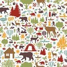 Symbol,Computer Icon,Cabin,Log Cabin,Outdoor Pursuit,Duck,Seamless,family fun,repeating pattern,Recreational Pursuit,Fun,Outdoors,Pattern,Fisherman,Tree,Kayak,Canoeing,Hot Air Balloon,Leisure Activity,vector illustration,Water Sport,Red,Swan,Swimming,Brown,Pine Tree,Tent,Butterfly - Insect,Canoe,Vector,Green Color,Crow,Stag,Raccoon,Deer,Fishing,Bear,Camping