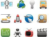 Symbol,Internet,Robot,Computer Icon,Network Server,Rocket,Icon Set,Television Set,Industry,Space,Toy,Spaceship,Web Page,Computer,Computer Chip,Sign,Computer Network,Searching,Occupation,Data,Information Medium,Satellite Dish,Downloading,Globe - Man Made Object,Vector,Communication,Shiny,Connection,Light Bulb,Text Messaging,Earth,Film Industry,Global Communications,World Map,Wireless Technology,Interface Icons,Send,Arrow Symbol,Ilustration,Series,Colors,Outline,Attached,Shadow