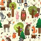 Effortless,Repetition,Nature,Design Element,Humor,Bright,Bird,Facial Expression,Rabbit - Animal,Vector,Design,Vibrant Color,Characters,Smiling,Decoration,Smiley Face,Green Color,Backdrop,Flower,Love,Pattern,Seamless,Part Of,Fun,Ilustration,Deer,Heart Shape,Joy,Bear,Cartoon,Wallpaper,Acorn,Happiness,Emotion