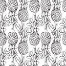 Seamless,Fruit,Pattern,Pineapple,Decoration,Vegetarian Food,Meal,Tropical Climate,Wallpaper Pattern,Domestic Kitchen,Contrasts,Monochrome,Black Color,Eating,Cooking,Sweet Food,Healthy Eating,Vector,Backgrounds,Refreshment,Healthy Lifestyle,Black And White,White,Ilustration,Creativity,Decor,Dieting,Simplicity,Textile,Cute,Wrapping Paper