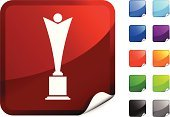 Trophy,Award,Statue,Movie,Winning,Symbol,Vector,Label,Computer Icon,Black Color,Page Curl,Film Industry,Creativity,Design,Shiny,Entertainment,Digitally Generated Image,Blue,Purple,Ilustration,Red,Orange Color,Green Color