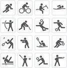 Sport,Symbol,Computer Icon,Icon Set,Swimming,Cycling,Stick Figure,Vector,Volleyball,Horse,Volleyball - Sport,Archery,Professional Sport,Badminton,Basketball - Sport,Kayak,Baseball - Sport,Canoe,Field Hockey,Boxing,Court Handball,Sports Event,Kayaking,Computer Graphic,Shooting,Collection,Group of Objects,Baseballs,Digitally Generated Image,Canoeing,Black And White,Series,Large Group of Objects,White Background,Illustrations And Vector Art,Vector Icons,Actions,Sports And Fitness