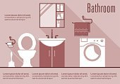 Apartment,Flat,Washing,Laundry,Vector,Bin/tub,Residential District,Sparse,Wash Bowl,Architecture,Luxury,Pink Color,Tile,Clean,Infographic,Indoors,Toilet,Hygiene,Inside Of,Domestic Bathroom,Furniture,sanitary,Shelf,Sink,Faucet,Elegance,Wall,Shower,Residential Structure,Modern,House,Comfortable,Cleaning,Domestic Room,Design,Mirror,Decor,Toothbrush,White,Machinery