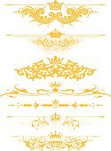 Crown,Nobility,Coat Of Arms,Single Flower,Flower,Gold Colored,Vector,Ornate,Victorian Style,Single Line,Swirl,filigree,Scroll Shape,Gothic Style,Arabic Style,Design Element,Art Deco,Art Nouveau,heraldic,Old-fashioned,Leaf,In A Row,Engraving,Squiggle,Curve,Spiral,Symmetry,Foliate Pattern,Engraved Image,Dividing,Curled Up,accent,Mirrored Pattern,footer,Vector Ornaments,Vector Florals,Vector Backgrounds,Illustrations And Vector Art