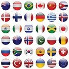 Interface Icons,Canada,National Flag,Computer Icon,Symbol,Turkey - Middle East,Switzerland,European Union Flag,Spain,state,Country - Geographic Area,Pakistan,Design,Asia,National Landmark,Isolated,Flag,Set,Collection,Icon Set,Government,France,Circle,Australia,UK,Talking,Nordic Countries,India,China - East Asia,Shiny,Travel,Vector,World Map,Business Travel,Netherlands,USA,Politics,Ilustration,Insignia,Italy,British Flag,Greece,Europe,Denmark,Banner