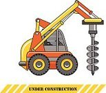 Ilustration,Isolated,Drill,Yellow,Tractor,Mover,Vector,Drilling,Equipment,Construction Machinery,Building - Activity,Machinery,Heavy,Oil Rig,Construction Industry,Mining,Business,Orange Color,Color Image,Hydraulic Platform,Working,Car,Land,Power,Backgrounds,Land Vehicle,Silhouette,Engineering,Computer Icon,Transportation,Dirt,Industry,Wheel
