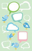Vector,Blue,Internet,Social Networking,Chat Room,Message,Computer Icon,Bird,Communication,Discussion,Ilustration,Social Gathering,Bluebird,On The Phone,Speech Bubble