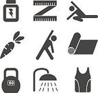 Symbol,Cycling,Badminton,Pool Game,Table Tennis,Stopwatch,Relaxation,Yoga,Gymnastics,Vector,Medal,Tennis,Exercising,Sport