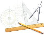 Architecture,Work Tool,Pencil,Blueprint,Drawing - Art Product,Ruler,Engineering,Engineer,Construction Industry,Design,Drawing Compass,Plan,Technology,Business,Housing Project,Planning,Drawing - Activity,Backgrounds,Measuring,Computer Graphic,Drafting,Three-dimensional Shape,Instrument of Measurement,Science,Office Interior,Paper,Computer,Sketch,Pencil Drawing,Machine Part,Ilustration,Equipment,Abstract,Working,Paperwork,Development,Scale,Occupation,Machinery,Ideas,Studying,Eraser,Shape,Part Of,Cross Section,Vector,White Background,Pattern,Concepts,Frame,Tracing,Close-up,Tracing,Arch,Design Element,Illustrations And Vector Art,Technology,Medicine And Science
