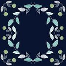 Frame,Plant,Copy Space,Pattern,Floral Pattern,1940-1980 Retro-Styled Imagery,Flower Bed,Retro Revival,Navy Blue,Backgrounds,Vector,Line Art,Summer,hand drawn,Single Line,Ilustration,Blue,Turquoise,Single Flower,Flower,Drawing - Art Product,Cute,Leaf,Picture Frame
