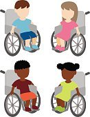 Patient,Vector,Illness,Cartoon,Physical Impairment,African Descent,Wheelchair,Child,Pain,Isolated,Care,Transportation,Small,Little Girls,Physical Injury,Caucasian Ethnicity,Healthcare And Medicine,Sitting,Disabled