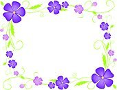Violet,Flower,Purple,Frame,Wedding,Backgrounds,Pansy,Green Color,Birthday,Tendril,Greeting Card,Daisy,Leaf,Invitation,Valentine's Day - Holiday,Decoration,Stem,Petal,Plant,Holiday Frame,Flexibility,Floral Pattern,Curled Up,Isolated On White