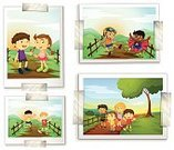 Child,Activity,Fun,Tree,Vector,People,Collection,Computer Graphic,Clip Art,White Background,Series,Little Boys