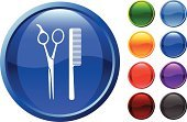 Scissors,Grooming,Hairbrush,Symbol,Computer Icon,Vector,Design,Black Color,Modern,Sparse,Purple,Red,Label,Ilustration,Orange Color,Green Color,Light - Natural Phenomenon,Digitally Generated Image,Shiny,Blue